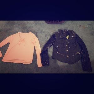 Jackets & Blazers - Sweater and jacket both S/M Great condition